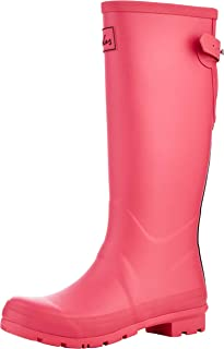 Joules Women's Field Welly Rain Boot, Magenta, 7 M US