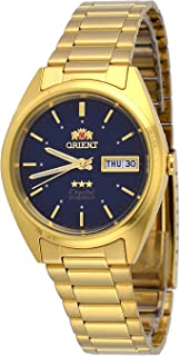 ساعة اورينت #FAB00002D للرجال 3 ستار ستاندارد ذهبي مينا زرقاء