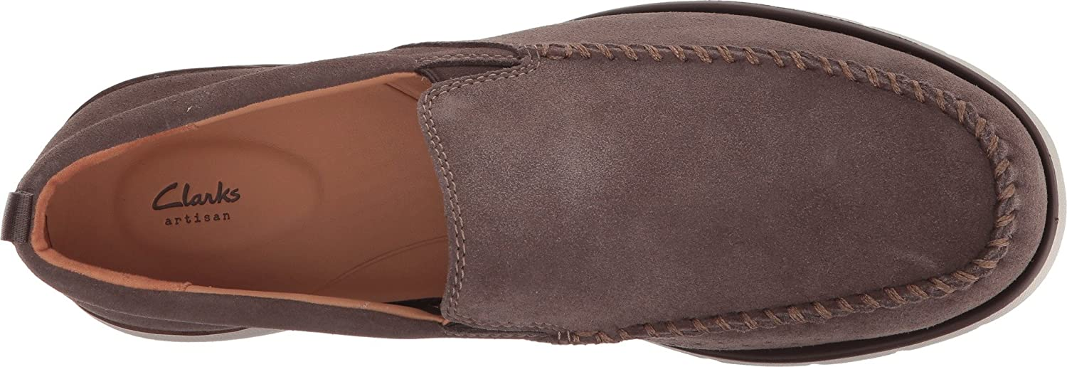 Clarks Edgewood Step Mens Loafers Taupe Suede 10