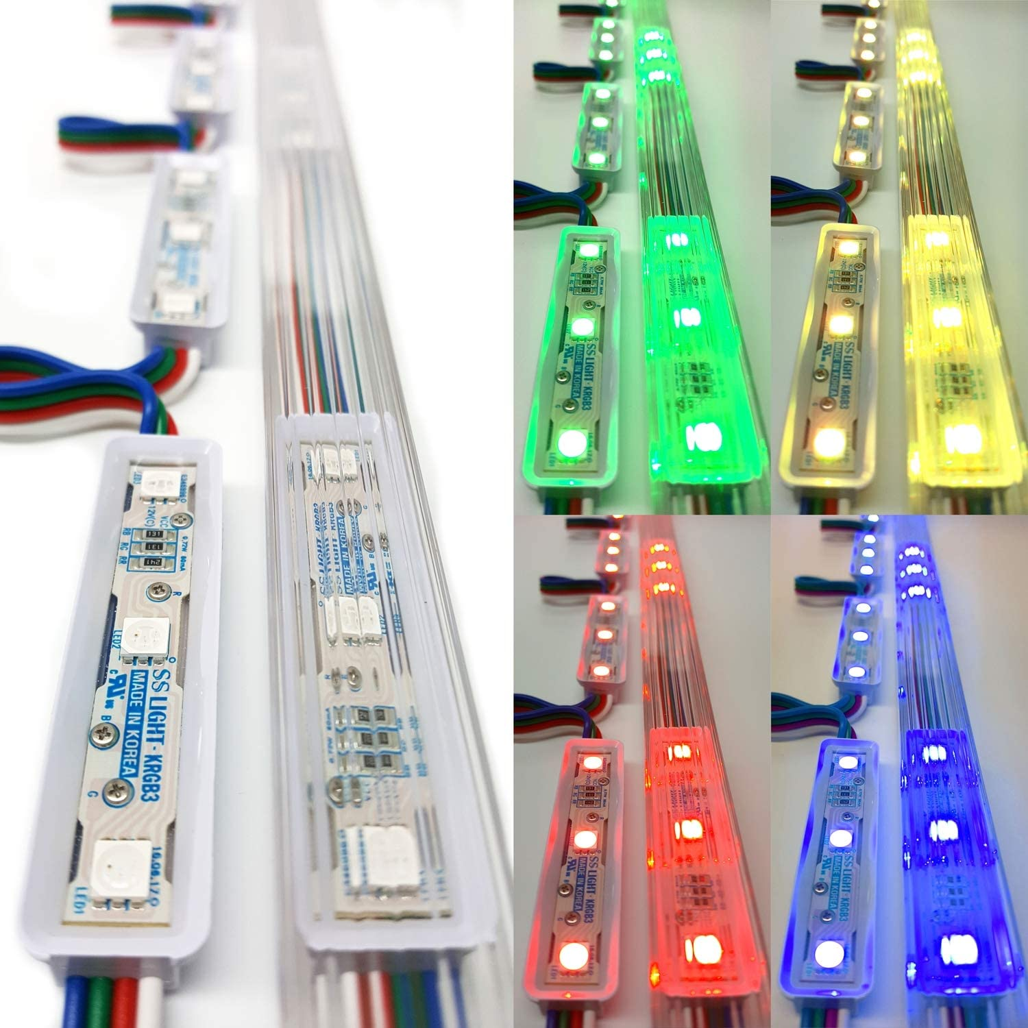 Luxdiyled Storefront Window LED Lights Kit with Predective Tracks (Multi-colord 25ft)