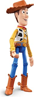 Pixar Ultimate Talker Woody Toy Story Talking Action Figure Sheriff Doll 9.2-in / 23.4-cm Tall, Posable with Cross-Movie C...