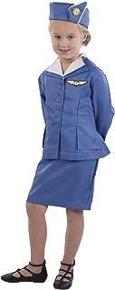 Dress Up America Retro Stewardess Flight Attendant Costume for Girls