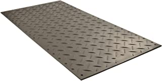 "Checkers Industrial Safety Products AM48 1 ea. Alturna Mat, High Density Polyethylene, 4' x 8' x 1/2"", Black"