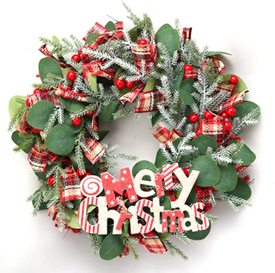 Lnrueg Christmas Artificial Door A surprise price is realized Hanging Realistic latest Wreath