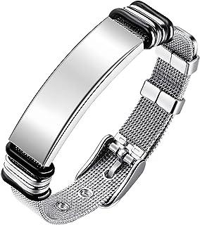 Emibele Bracelet for Men, Mesh Stainless Steel Cross Bracelet, Simple Minimalist Design Fashion Wrist Accessories, Gift for Men
