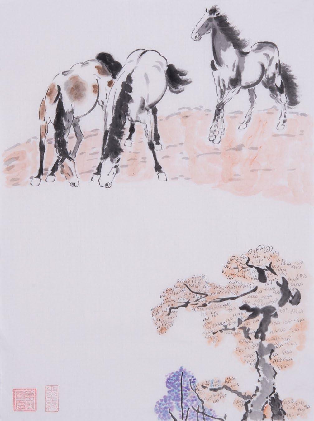 Jiangnanruyi Art Quality Ranking TOP7 inspection Horse Original Hand Artwork Ch Unframed Painted