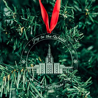 LDS Idaho Falls Temple Ornament - Acrylic