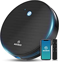 Robot Vacuum, MOOSOO Robotic Vacuum Cleaner, Wi-Fi Connectivity, 1800Pa Suction, Self-Charging, Multiple Cleaning Modes, B...