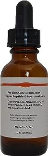 Copper Peptide (GHK-Cu) Pro Skin Care Serum with Hyaluronic Acid (1.2oz)