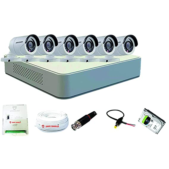 Hikvision 8 Ch ECO DVR with (2MP) 6 Bullet Camera Full Combo Kit