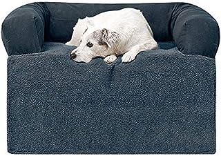 سرير كلب فاخر على شكل غطاء أريكة من PawTex، مقاس صغير، لون أزرق