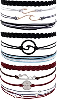 Vsco String Bracelets for Teen Girls Women Waterproof Boho Rope Bracelets Wave Surfer Bracelets Summer Beach Anklets
