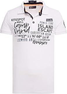 Camp David Kite Surfing CCB-1903-3357 1/2 Polo Shirt Opticwhite