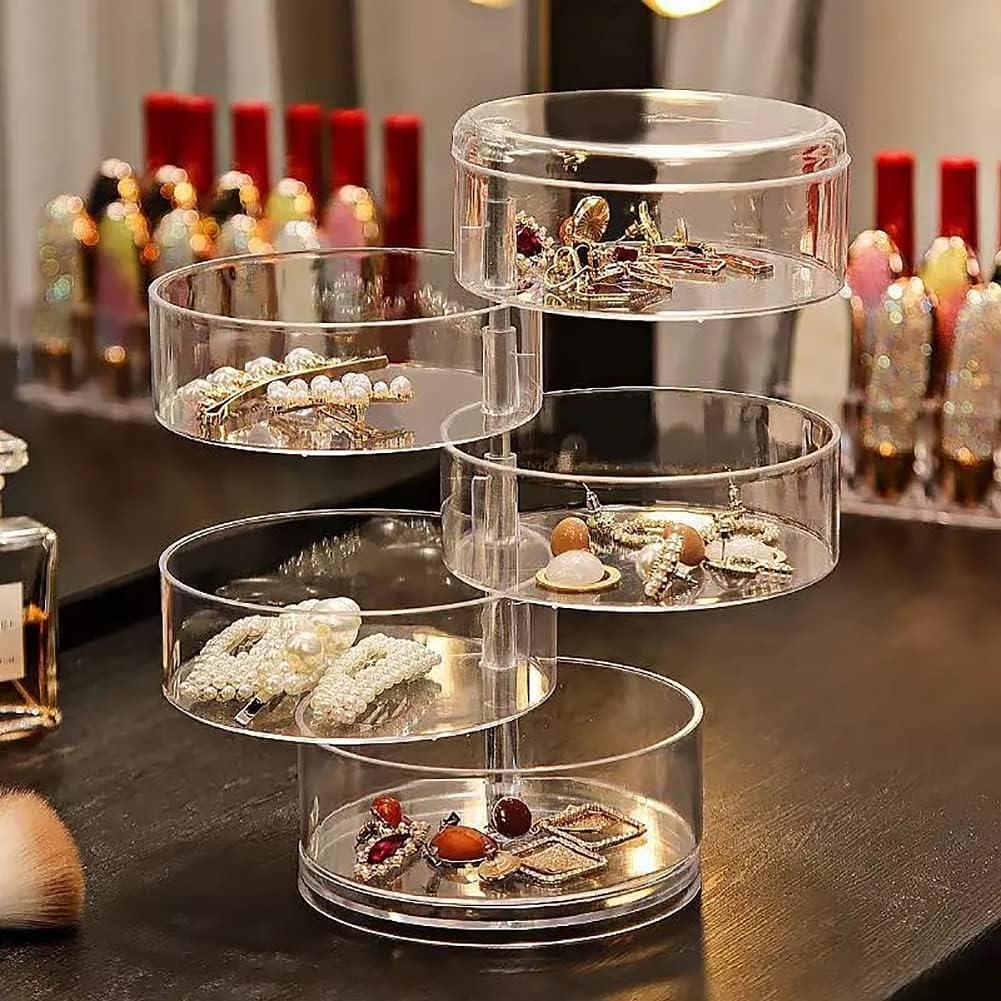 HongYunLA 5 Layer Rotatable New Special price life Jewelry Storage Stacka Box Organizer