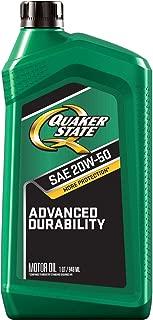 Quaker State Advanced Durability Conventional 20W-50 Motor Oil (1-Quart, Case of 6)
