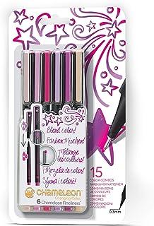 Chameleon Art Products, Floral Fine Liner Pens - Set of 6