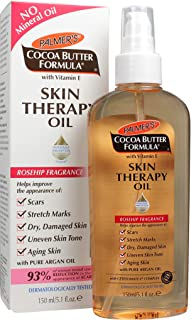 Palmer's Cocoa Butter Formula with Vitamin E Skin Therapy Oil - Body | Helps Improve Appearance of Stretch Marks, Scars, Uneven Skin Tone, Aging Skin | Rosehip Fragrance | Pump Dispenser Bottle 5.1 Oz