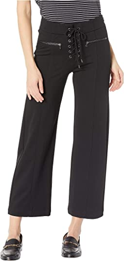 Nellie Culotte with Lace-Up in Black