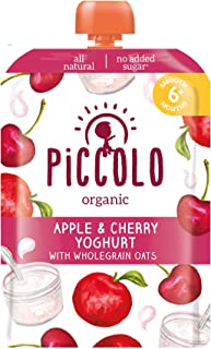 Piccolo Cherry & Yoghurt with Oats, Red, Small, 5count