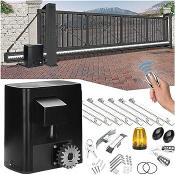 wolketon Abridor automático de puerta corredera para puerta de hasta 600kg, motor operador de puerta, 2 Mandos a Distancia y 8 Cremalleras, fotocélula e intermitente incluidos: Amazon.es: Bricolaje y herramientas