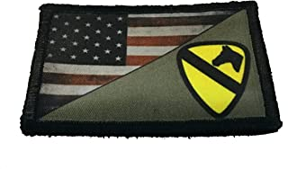 37f1d179b662 Full Color US Army 1st Cavalry Division USA Flag Morale Patch Tactical  Military. 2x3