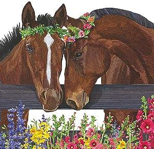 Paperproducts Design Sonny & Cher Horses Beverage Napkin, 5