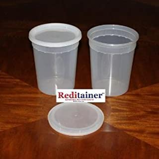 Reditainer Deli Food Storage Containers with Lid, 32-Ounce, 10-Pack