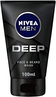 NIVEA MEN DEEP Cleansing Face & Beard Wash, Active Charcoal, 100ml