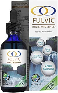 Water Extracted Fulvic Acid X200 -Plant Based Ionic Trace Minerals - Mineral Supplement - Concentrated Minerals - 3.5 Month Supply - 2oz