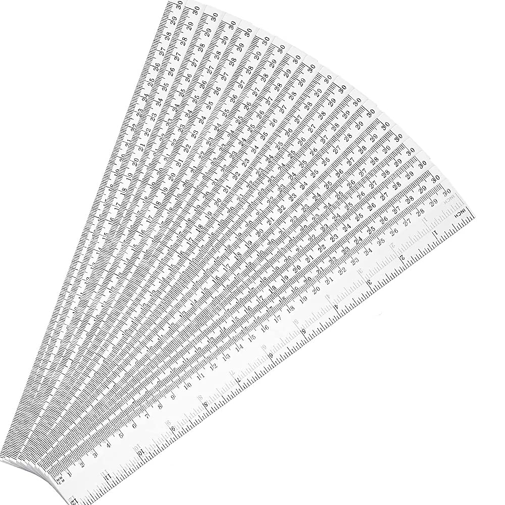 20pcs Dealing full price reduction Plastic Ruler 12inch Excellent Rule Measuring Straight Student