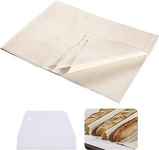 Toile de boulangerie, tissu en lin pour la fermentation du pain, la cuisson de la pâte, plateau / tapis à baguettes, acces...