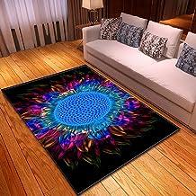LHGBGBLN 3D Printing Carpet Colorful Abstract Sunflower Bedroom Living Room Non-Slip mat Corridor Floor mat Door mat Flowe...