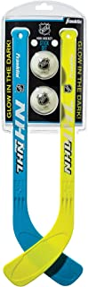 Franklin Sports Mini Hockey Stick and Ball Set - Glow in The Dark - NHL