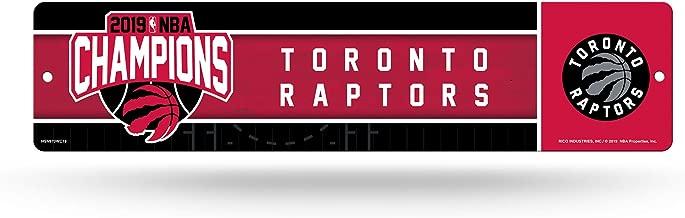 Rico Industries NBA Toronto Raptors 16-Inch Plastic Street Sign Decor16-Inch Plastic Street Sign Decor, Black, 17