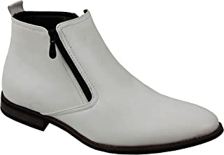 Xposed Bottes Chelsea Hommes Rétro Classique Bas Cheville 2 Poches Intelligentes Chaussures Décontracté UK Tailles