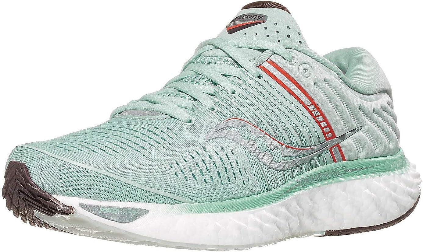 Saucony Triumph 17 Sky Grey//Coral Zapatillas de Atletismo para Mujer