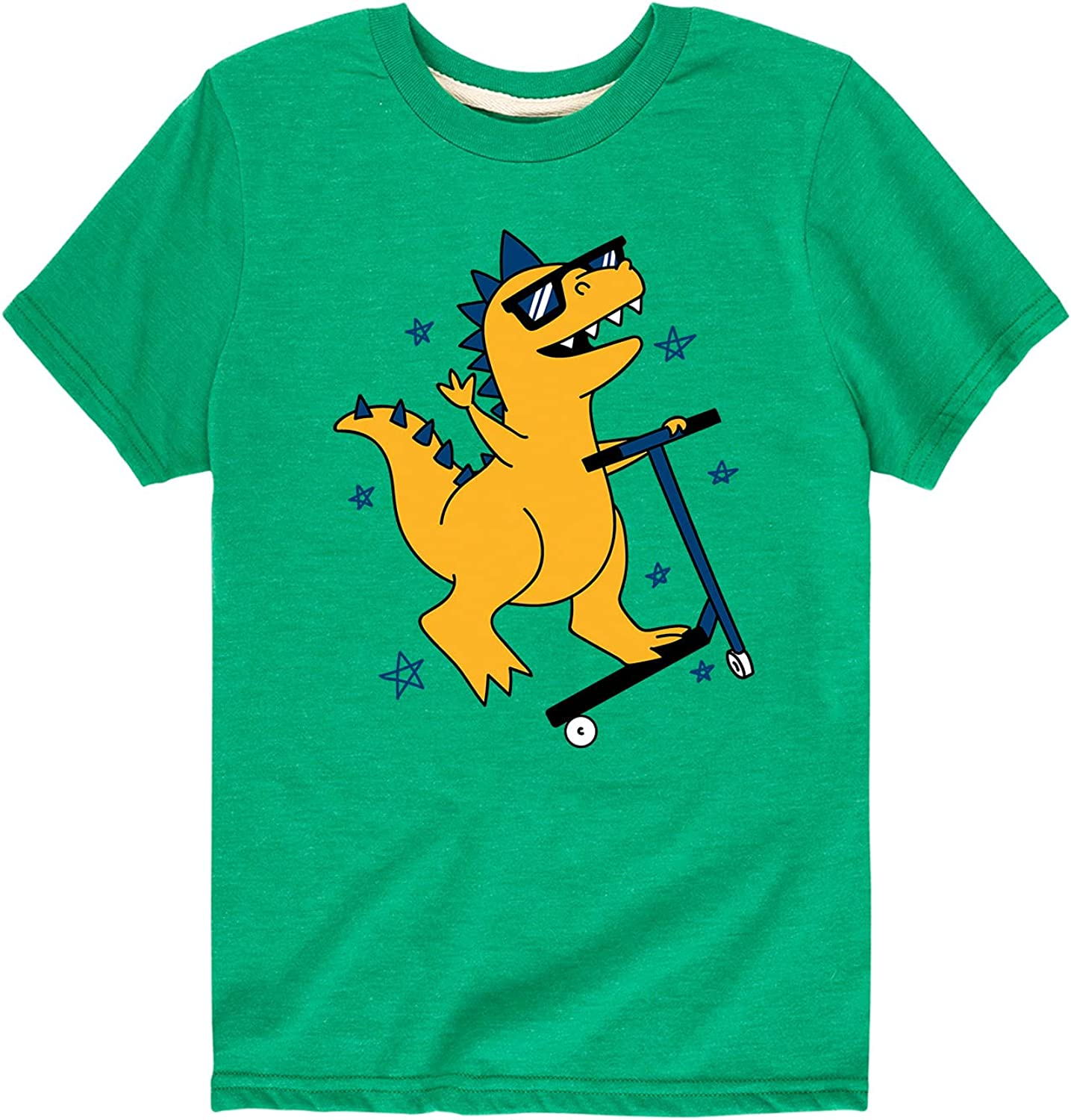 Instant Message Mohawk Scooter Dino - Toddler and Youth Short Sleeve Graphic T-Shirt
