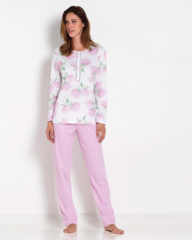 Linclalor Pijama de verano con camiseta de manga larga y ...