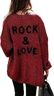 PRETTYGARDEN Women's Long Sleeve Open Front Knit Cardigans Sweaters Soft Loose Draped Coat Outerwear