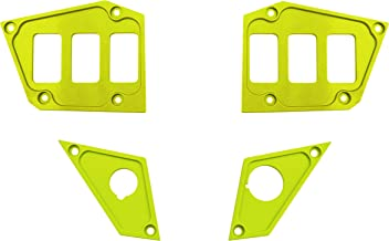STVMotorsports SDP6GPS-FS Custom Aluminum Dash Panel for 2017-2018 Polaris RZR XP Turbo Edition with GPS Display – Made 100% in USA (no switches Included) (Full Set - Lime)