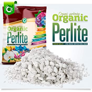 Organic 10 Quarts Coarse Perlite for All Plants - Horticultural Soil Additive Conditioner Mix - Grow Media - Orchids • Hydroponics - Cz Garden (10 Quarts Coarse Horticultural Grade)