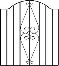 Regent Tall Metal Scroll Garden Gates 991mm GAP X 1867mm High galvanised wrought iron swing gate RBZP43