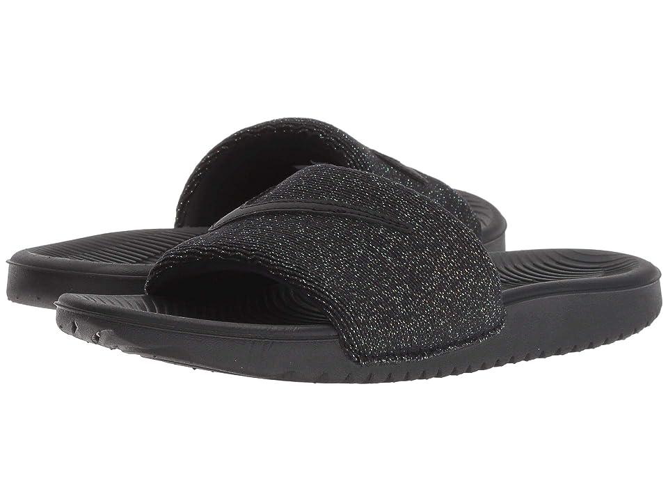 Nike Kids Kawa Slide Glitter (Little Kid/Big Kid) (Black/Black) Girls Shoes