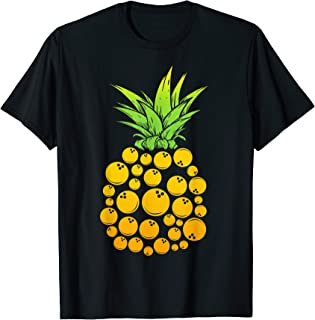 Bowling Pineapple Summer Sports T-Shirt Hawaii Party