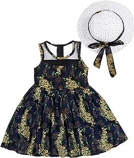 TUEMOS Conjunto de 3 Piezas de Ropa de Verano para niños y niñas, con Playera y pantalón Corto y Sombrero para el Sol, Color Amarillo