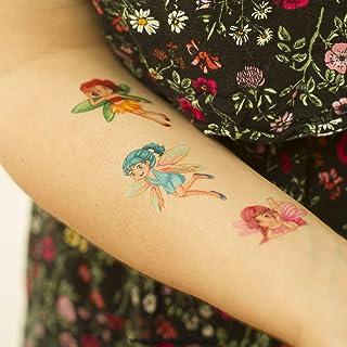 10 x Fairy Tattoo Card - 110 kleurrijke betoverende feeën - tijdelijke kinderhuid tatoeages (10)