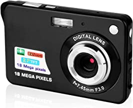 Digital Camera,2.7 Inch HD Camera for Backpacking Rechargeable Mini Camera Students Cameras Pocket Cameras Digital with Zoom Compact Cameras for Photography (Black)