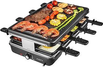AONI Electric Raclette Grill Smokeless Party Grill Grill électrique avec surface de cuisson antiadhésive, 1200W Contrôle d...