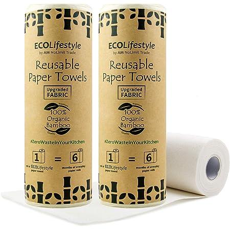 Bamboo Kitchen Cloths Set of 3 or 6 Reusable Unpaper Kitchen TowelsCloths Washable