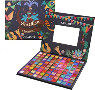 Brazilian Carnival Palette Big Size Eyeshadow 99 Colors of Professional Matte Glitter Makeup Pallet Highly Pigmented Color...